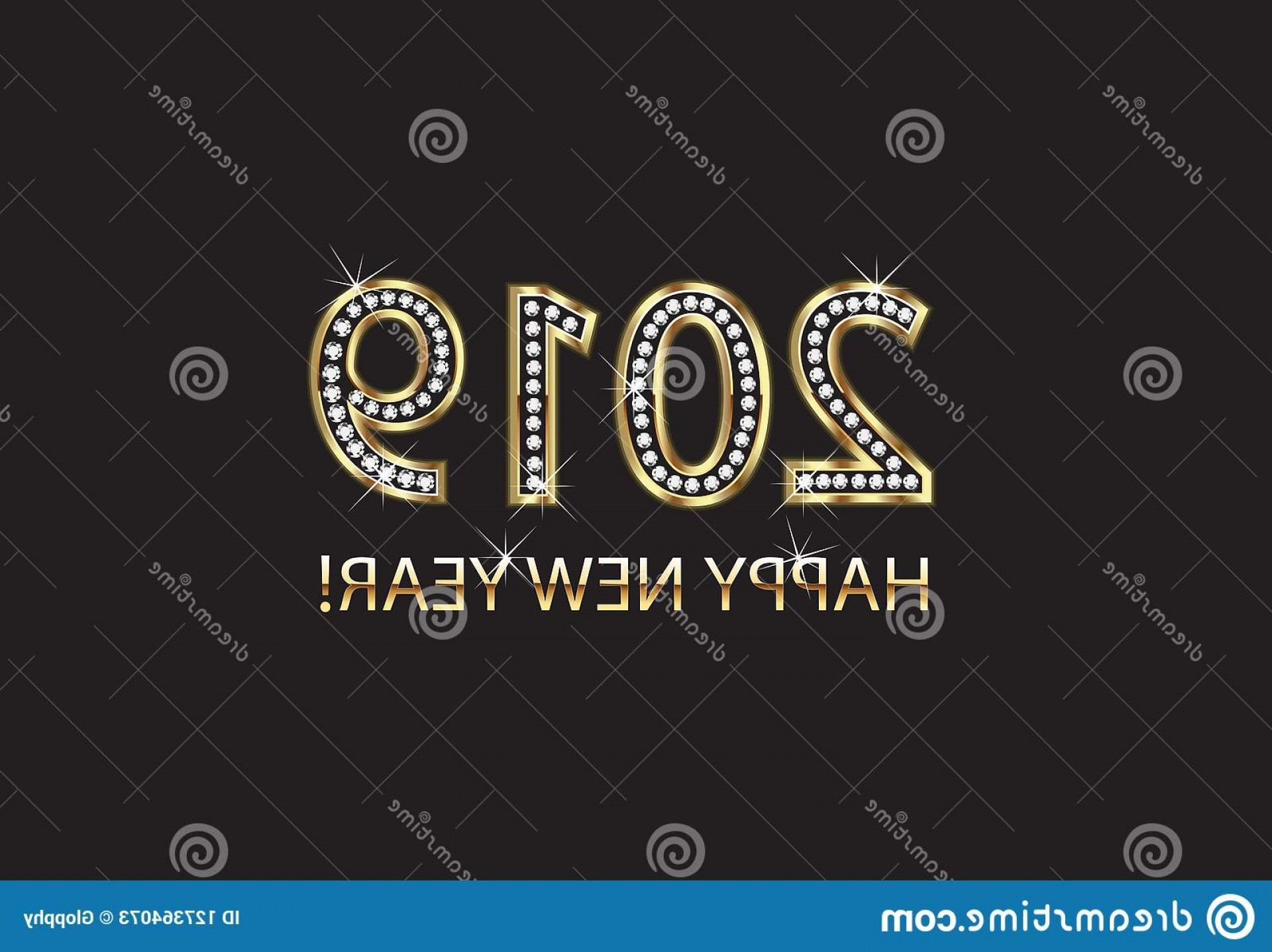 Bling Logo Vector: Happy New Year Gold Background Vector Diamonds Bling Design Your Luxury Party Image