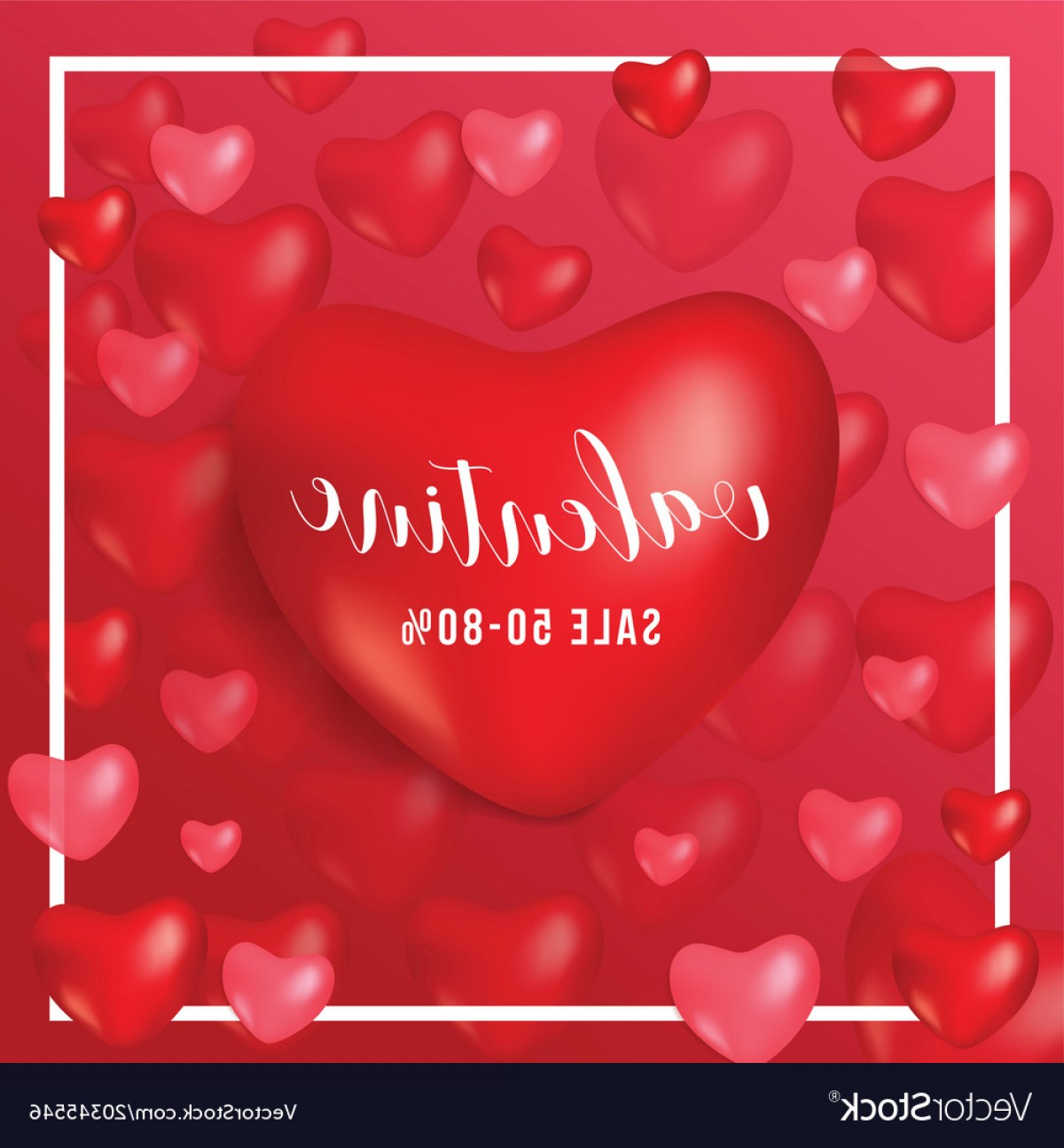RedVector Coupon: Happy Valentine Day Gift Voucher Coupon Heart Red Vector