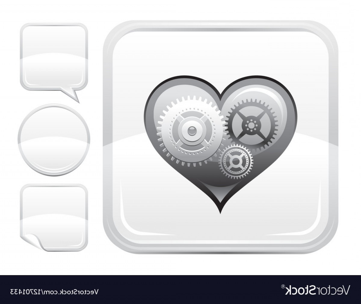 Silver Prince Vector: Happy Valentines Day Romance Love Heart Silver Vector