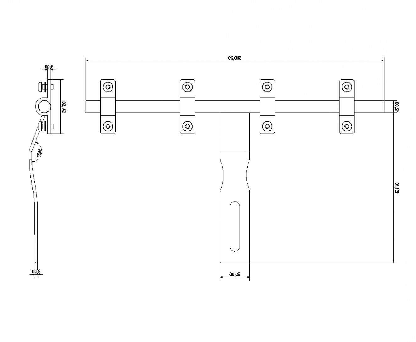 Falcon 50 Vector 2D CAD Drawings: Hasp And Staple Cad Dwg Block
