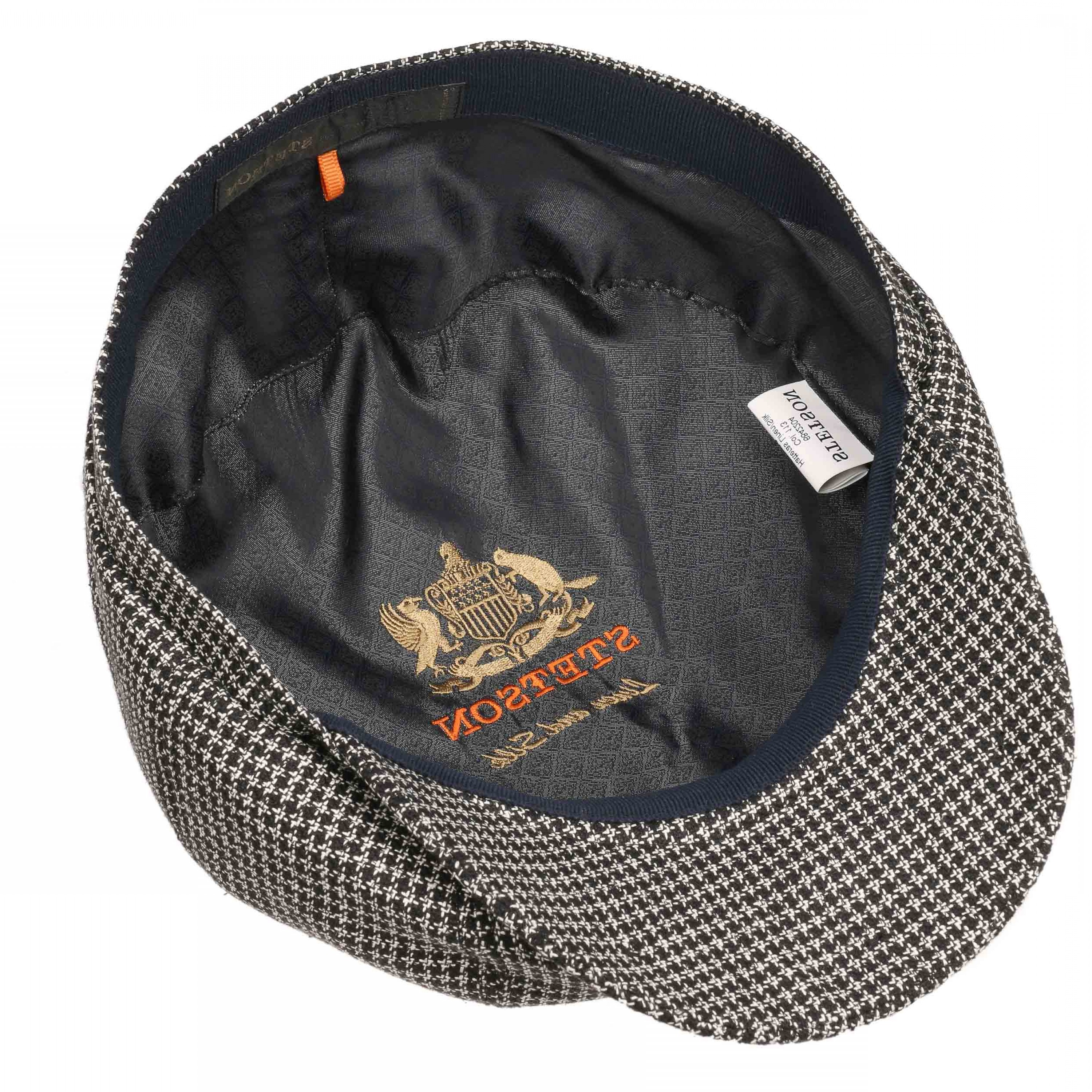 Houndstooth Hats Vector: Hatteras Houndstooth Flat Cap By Stetson English