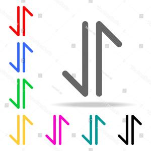 Multi Arrow Vector Clip Art: Isolated Colorful Straight Arrows Multi Colored Symbol Vector Banners Gm