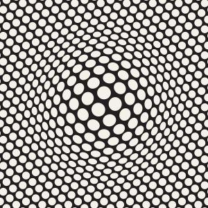Vector Hand Drawn Optical Illusions: Halftone Bloat Effect Optical Illusion Abstract Geometric Background Design Vector Seamless Retro Pattern Samolevsky