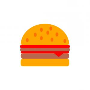 Burger Vector: Hamburger Icon Burger Vector Eps Ai File