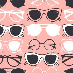 Aviator Vector Ink Drawings: Hand Drawn Fashion Illustration Glasses Creative