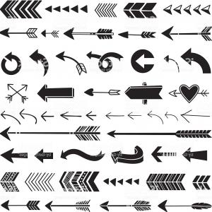 Arrow Vector Shape: Abstract Arrow Element Shape Isolated Vector White Stock Illustration Design Image