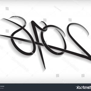 Fancy Ampersand Vector: Doodle Ampersand Symbol Elegant Hand Drawn