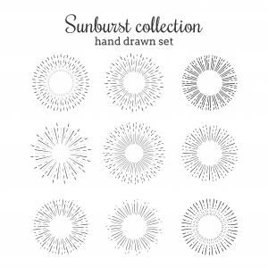 Circle Hand Drawn Vector Line: Hand Drawn Vector Circle Textures Vector Illustration Of Radial Background Drawing With Liner Pen On Paper Dots Line Wood Sketch Pencil Brush Image