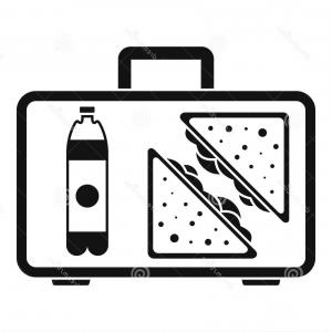L Unch Icon In Vector: Stock Illustration Juice School Lunch Icon Simple