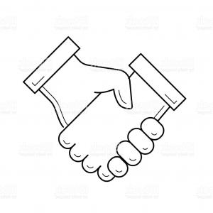 Handshake Vector Art: Stock Photo Handshake Vector Symbol Set