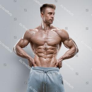 Vector Abstract Woman Bodybuilder Physique: Stock Illustration Fitness Concept Sport Bodybuilder Man Muscular Fitness Models Mens Physique Athlete Useful Harmful Food Vector Image