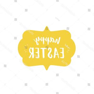 Nameplate Vector Graphics: Lettering Happy Birthday With Nameplate On Vector