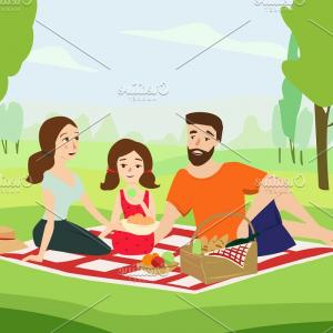 Vector Word Picnic: A Little Picnic Lunch In Kissimmee Text Word Vector