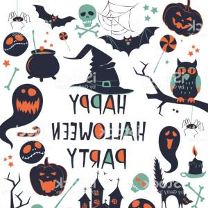 Spooky Border Vector: Happy Halloween Vector Illustration Background Frame Border Pattern Card Gm