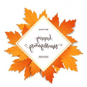 Thanksgiving Banner Vector: Happy Thanksgiving Sale Banner For Thanksgiving Vector