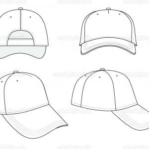 Black Baseball Cap Vector: Hat Outline Template Black Baseball Cap Stock Vector Pirate
