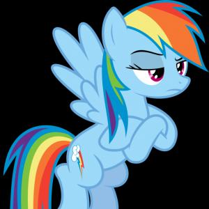 Angry Rainbow Dash Vector: An Angry Monster With A Rainbow In The Sky