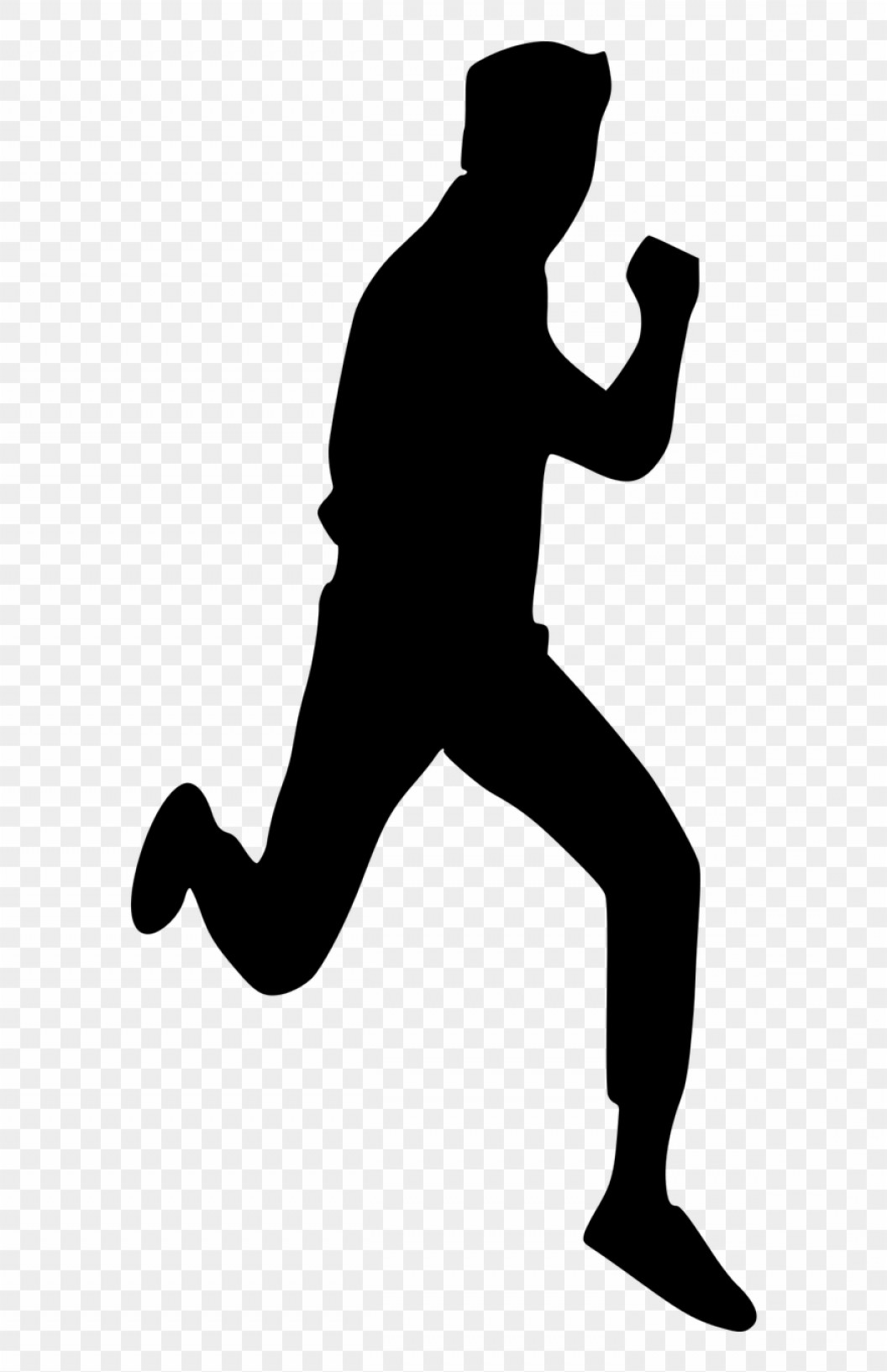 Vector Silhouette Of Girl Running Track: Hbxmtrvector Graphics Running Man Silhouette Png Clipart