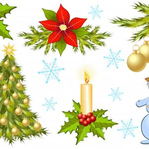 Xmas Ornaments HD Vector Of Art: Hbrhitbtree Top Clipart Vector Library Download Red Christmas