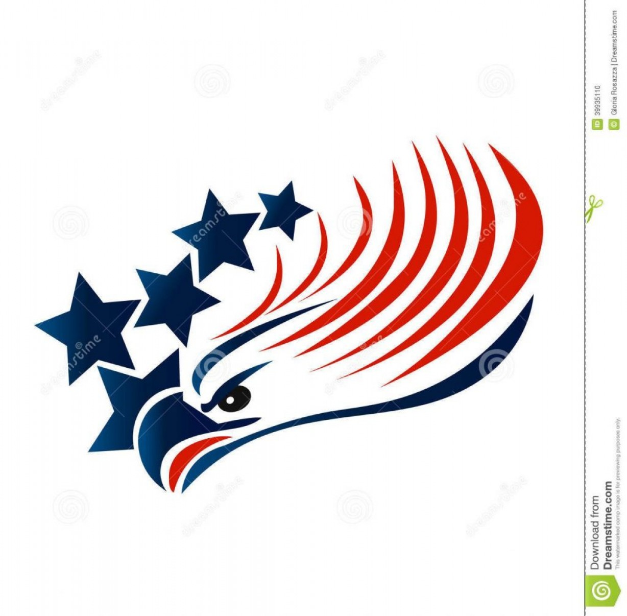 Patriotic Bald Eagle Vector: Hd Bald Eagle American Flag Vector Image
