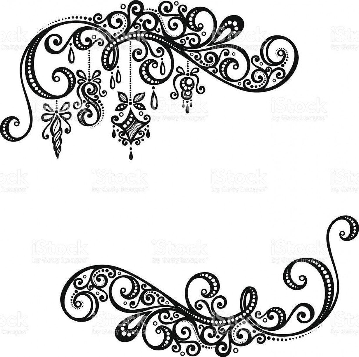 Vector Boarders Clip: Hd Black And White Thanksgiving Borders Vector Image