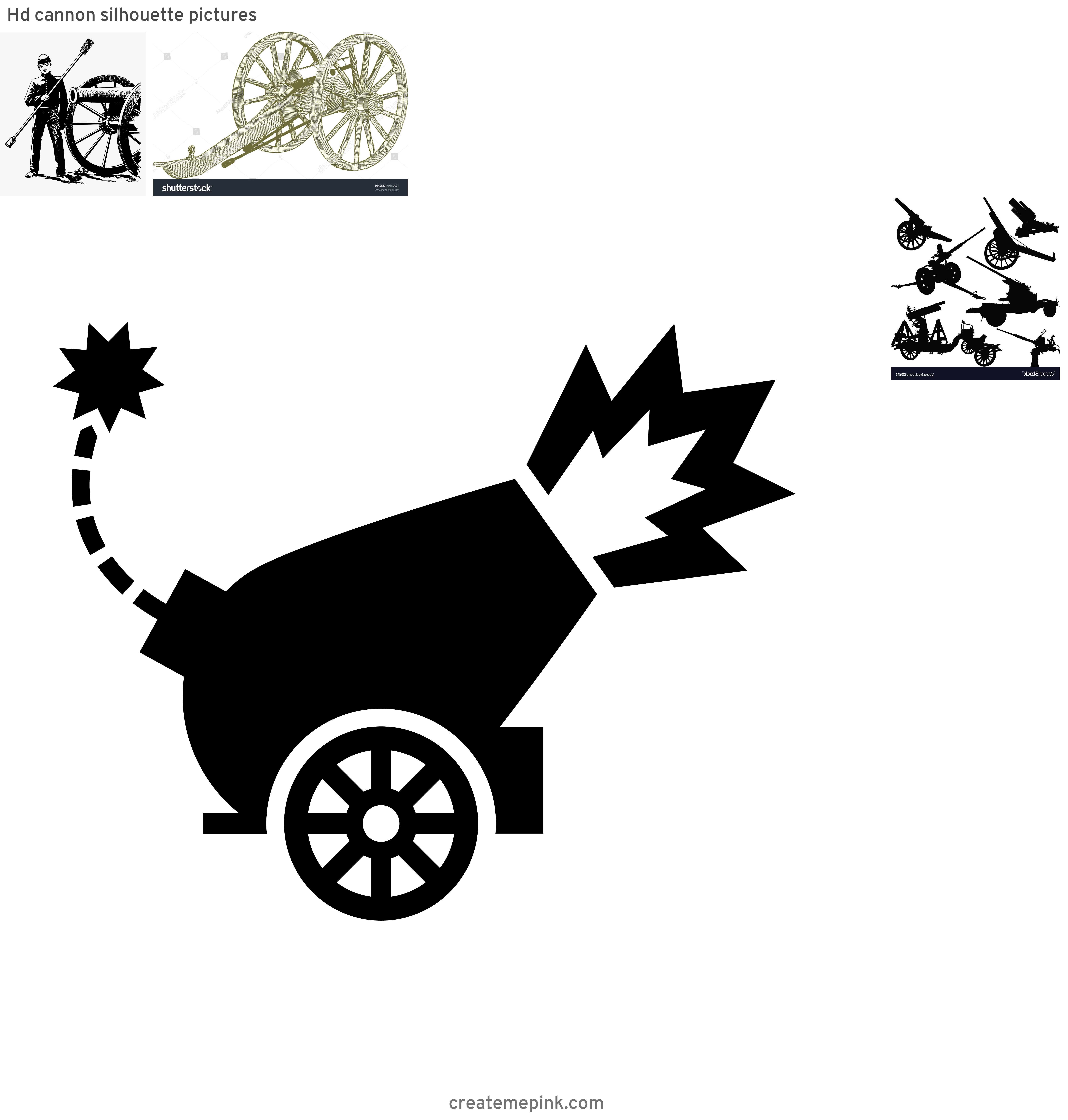 Civil War Cannon Vector: Hd Cannon Silhouette Pictures