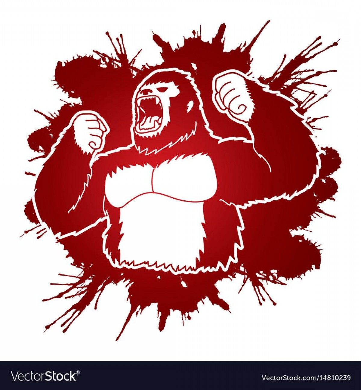 Drawings Of King Kong Vector: Hd King Kong Drawings Vector Pictures