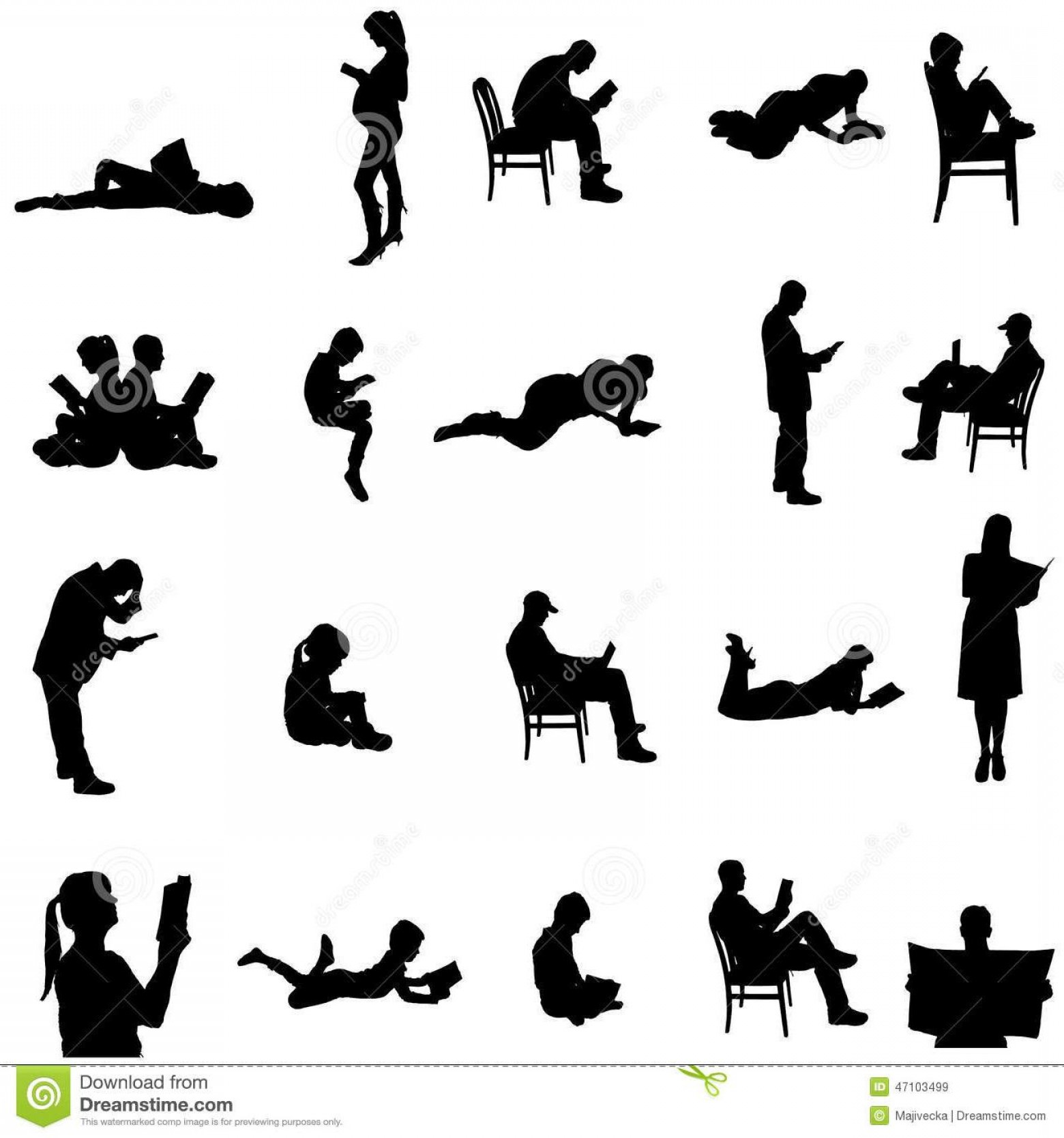 Vector People Free Clip Art: Hd Vector People Sitting Vector Image