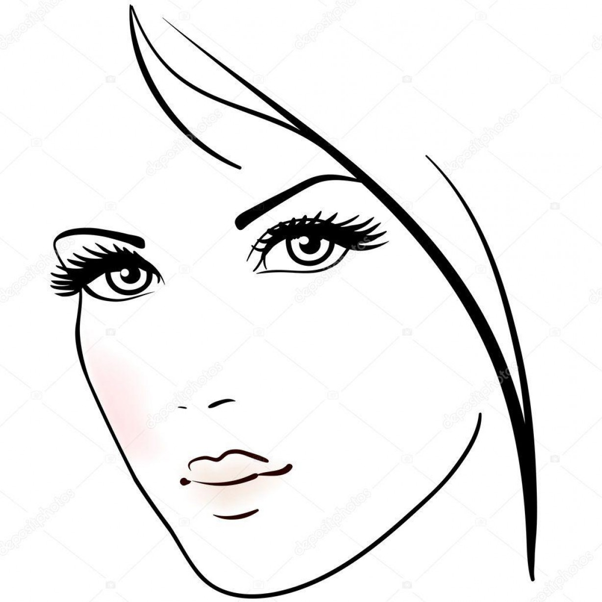 Woman Silhouette Vector Face Expression: Hd Woman Face Vector Png Pictures