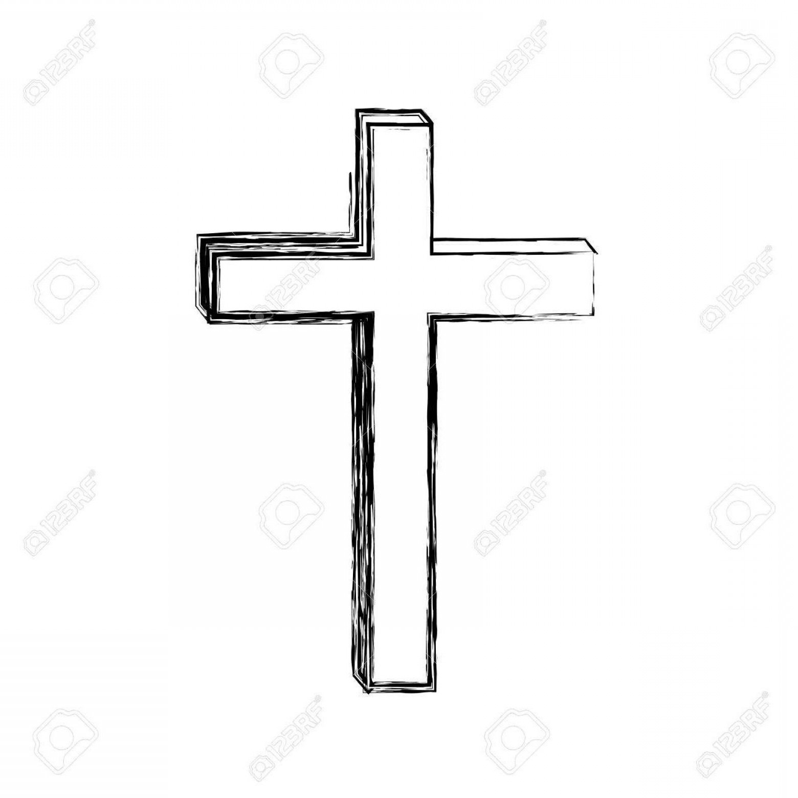 Cool Cross Vector Clip Art: Hd Wooden Cross Clipart Vector Drawing