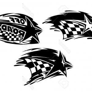 Racing Flag Vector Art: Hd Checkered Flag Decals Graphics Vector Images