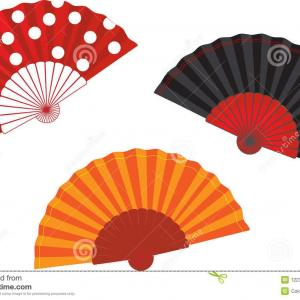 Spanish Vector Art: Hd Spanish Fan Clip Art Design