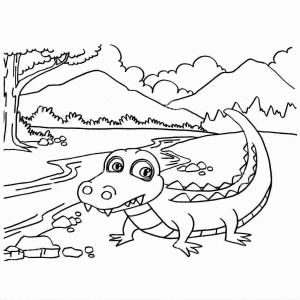 Vector From Sonic Coloring Pages: Hd Vector The Crocodile Drawing