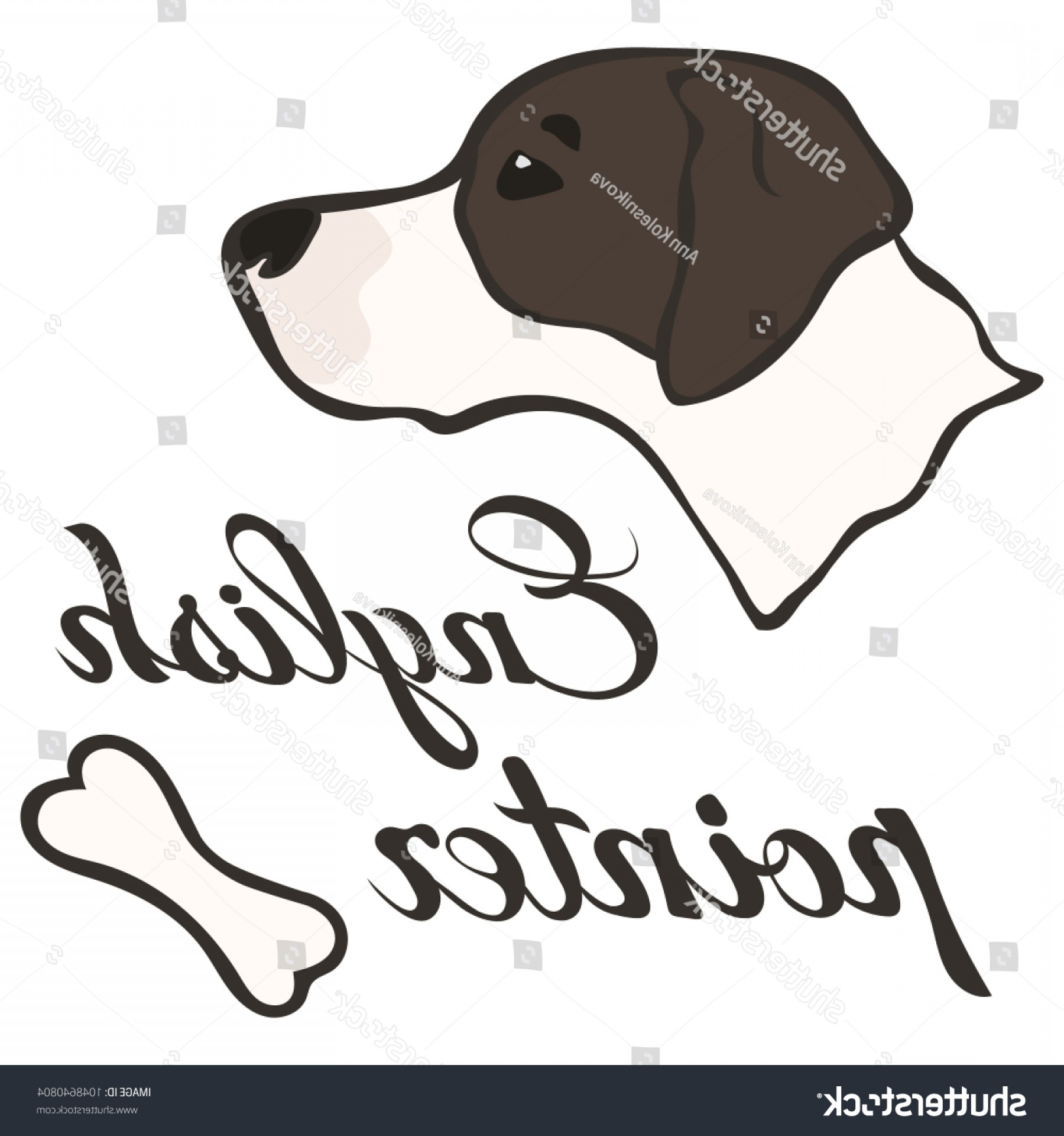 Pointer Dog Vector: Head English Pointer Dog Breed Vector