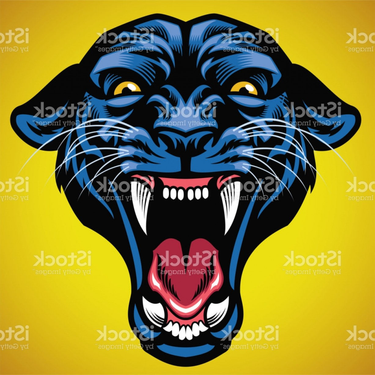 Panther Vector: Head Of Angry Black Panther Gm