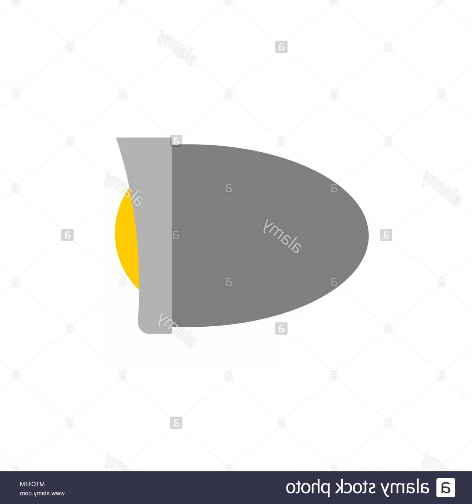Vector Round Headlight: Headlight Bike Isolated Motorcycle Part Vector Illustration Image