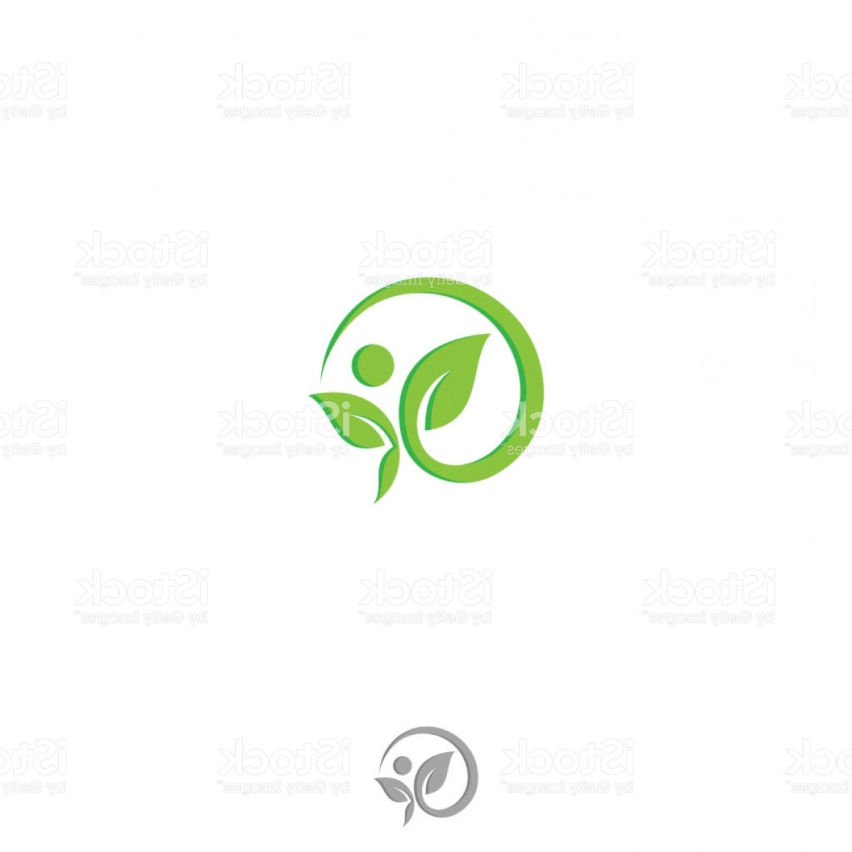 Health Vector Logo: Health Human Vector Logo Concept Illustration In Round Flat Style Design Gm