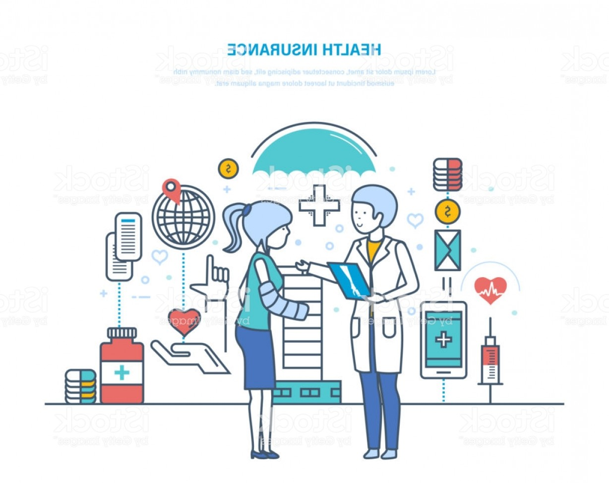 Vector Health Insurance: Health Insurance Insurance Of Life And Accidents Healthcare System Gm