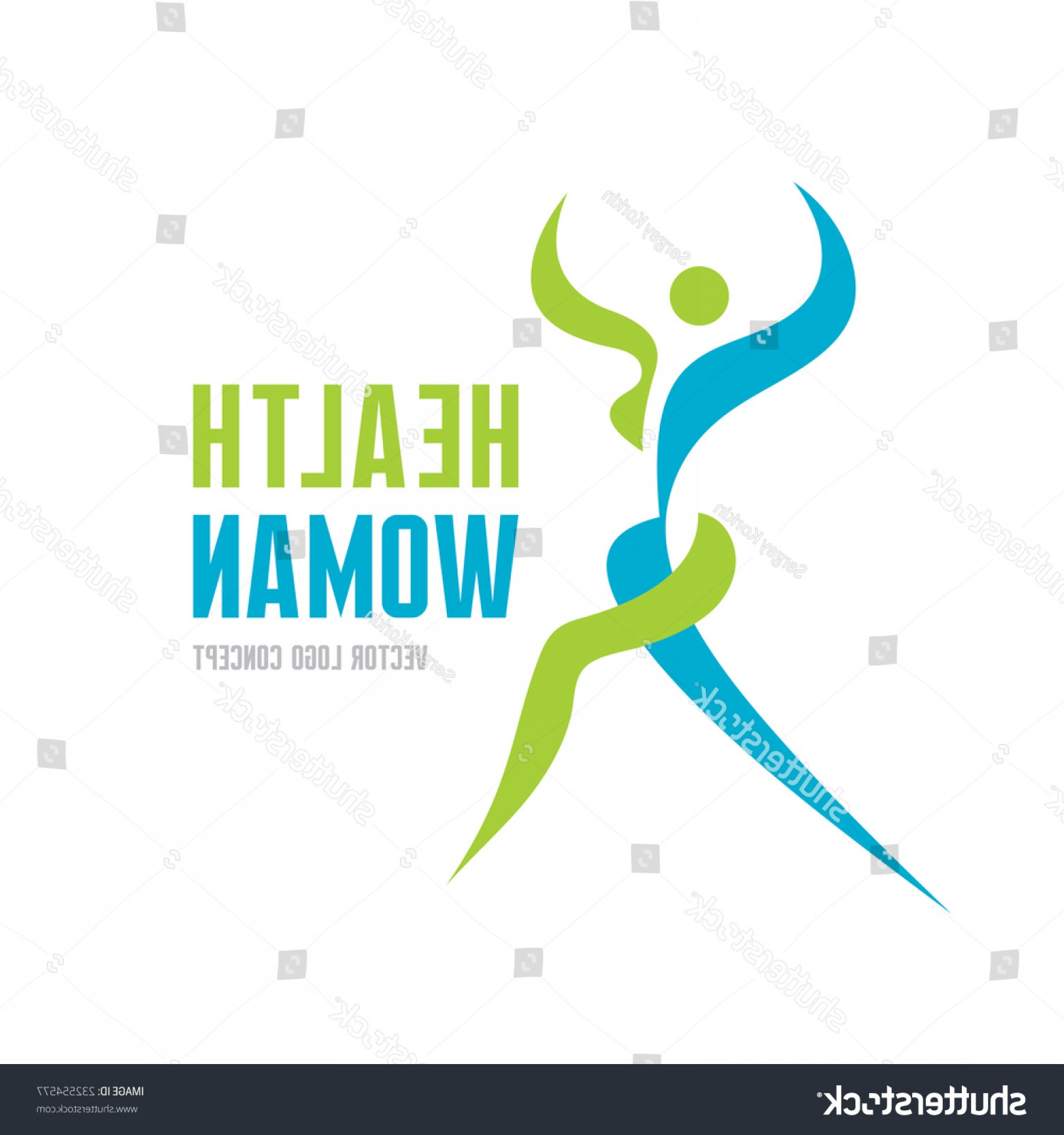 Health Vector Logo: Health Woman Vector Logo Template Concept