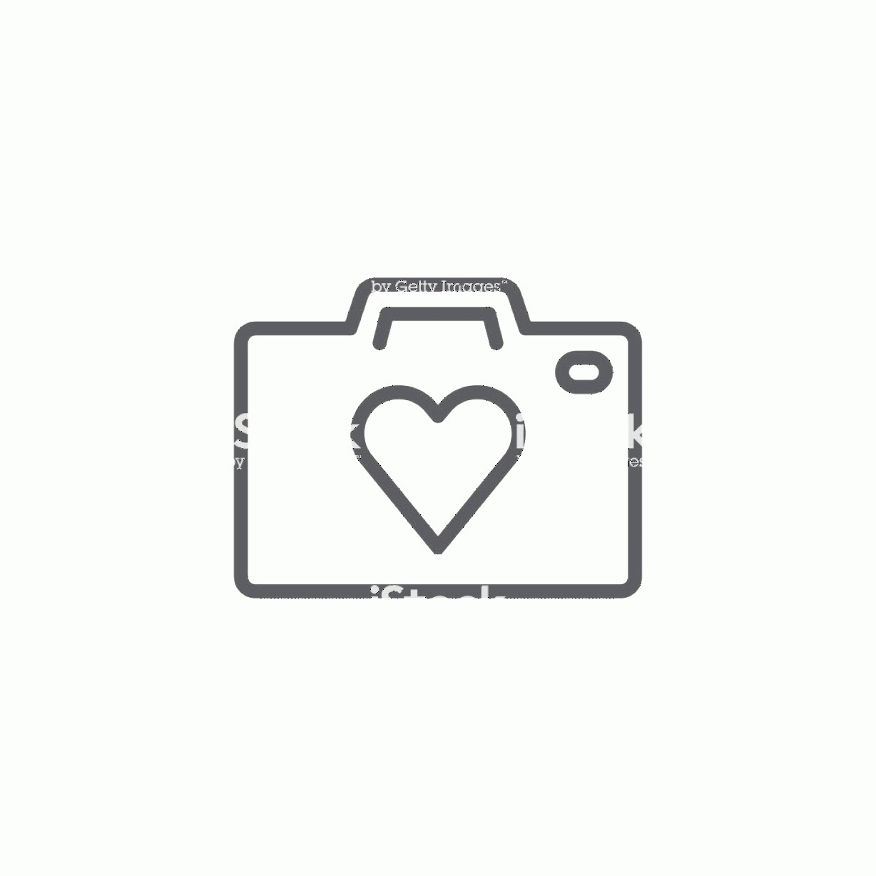 Camera Heart Clip Art Vector: Heart Camera Outline Icon Gm