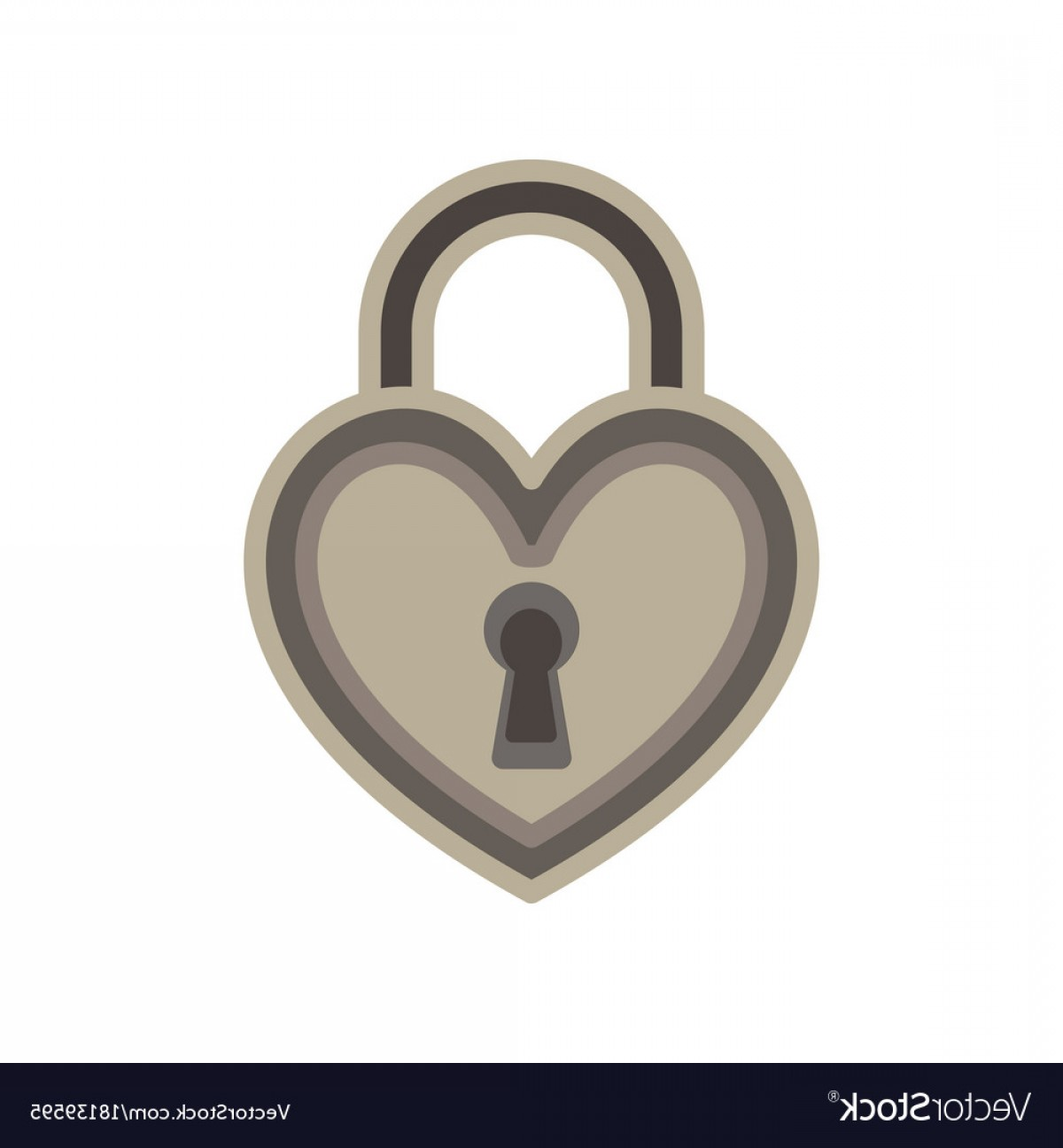 Heart Lock Vector: Heart Lock Love Padlock Key Keyhole Icon Symbol Vector