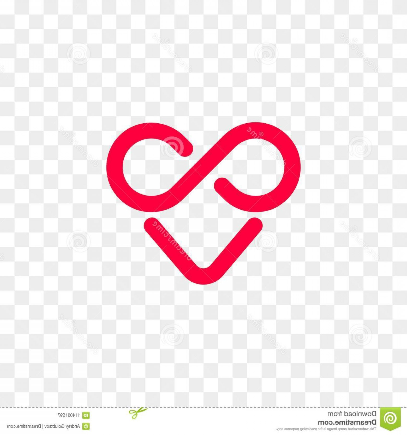Vector Infinity Symbol Hearts: Heart Logo Vector Infinity Loop Icon Heart Logo Vector Infinity Loop Icon Isolated Modern Heart Symbol Cardiology Medical Image
