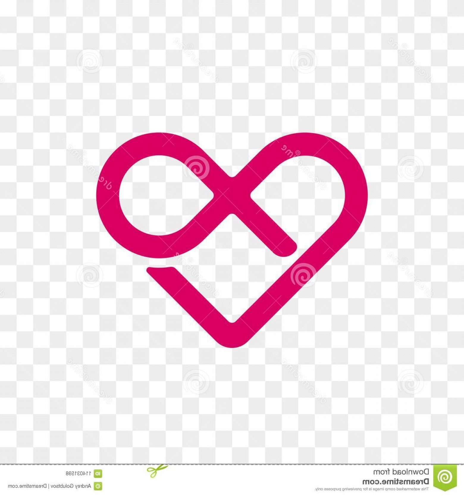Vector Infinity Symbol Hearts: Heart Logo Vector Infinity Loop Icon Isolated Modern Symbol Cardiology Medical Center Charity Valentine Love Wedding Image