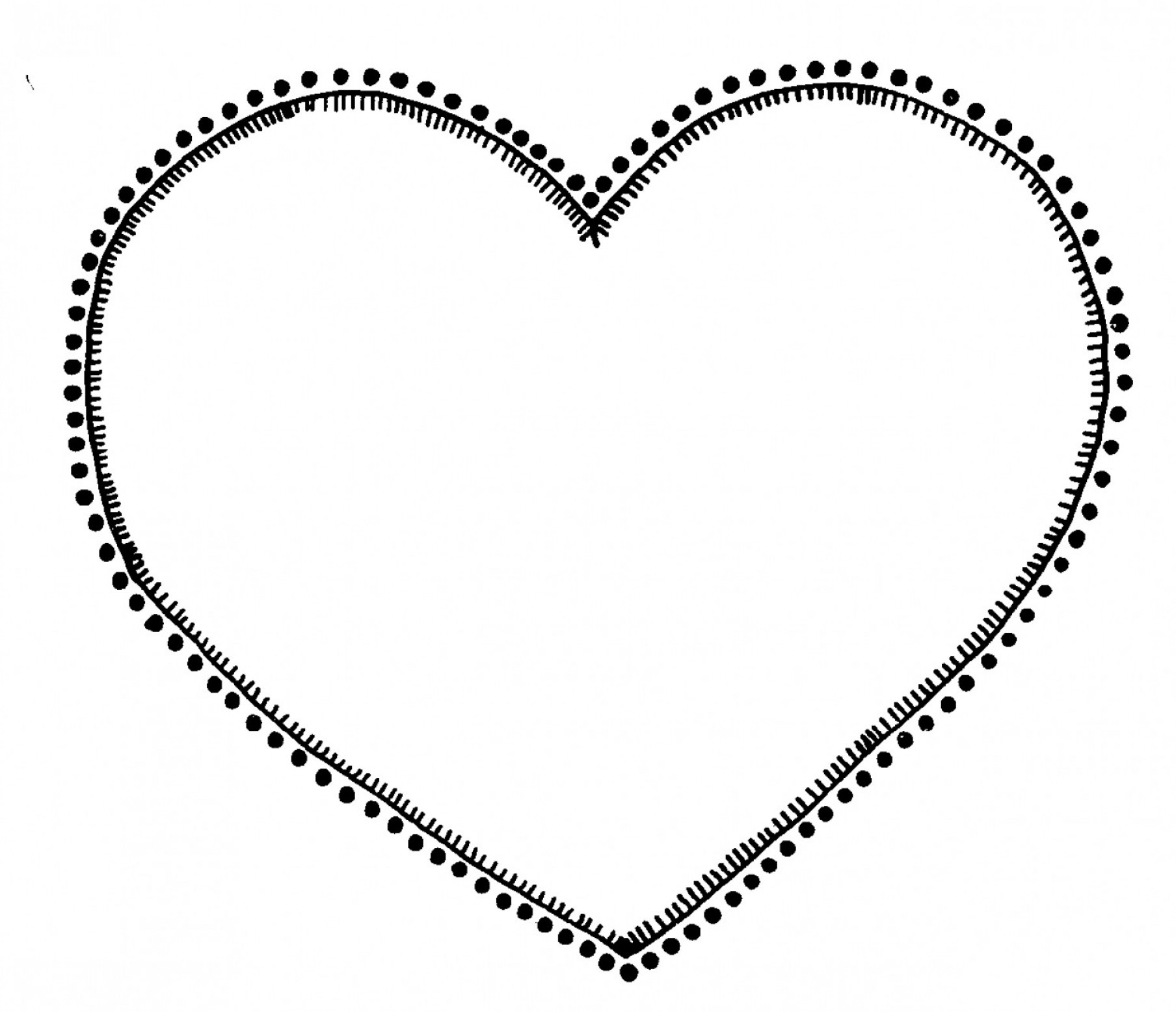 AT-AT Vector: Heart Outline Clipart Black And White Black And White Heart Clip Art At Vector Clip Art