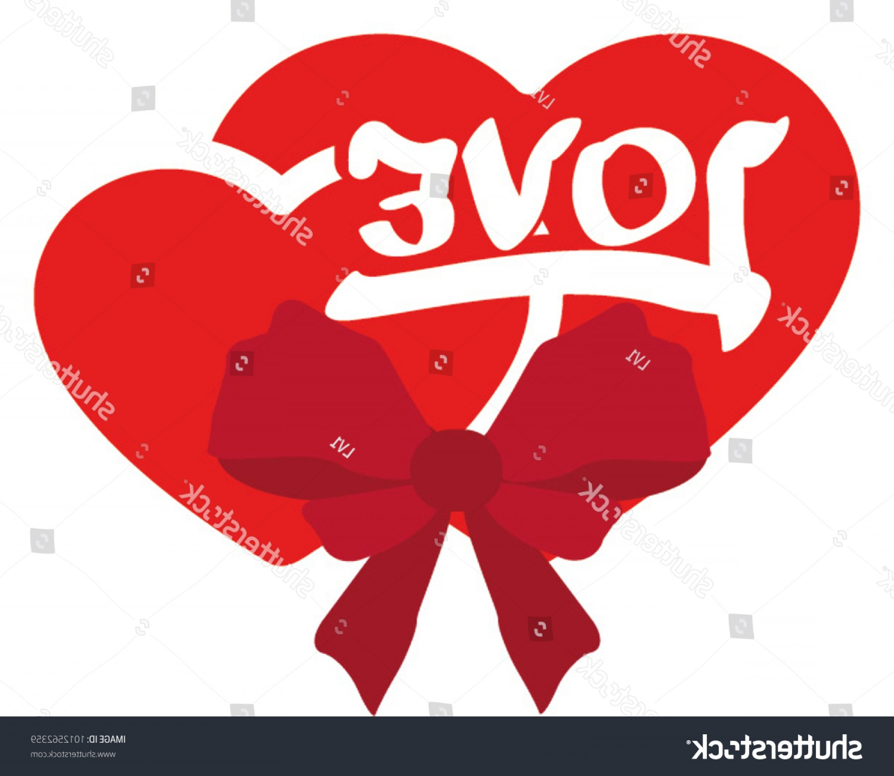 Slanted Heart Vector: Heart Red Love Letters Outline Postcardbowknot