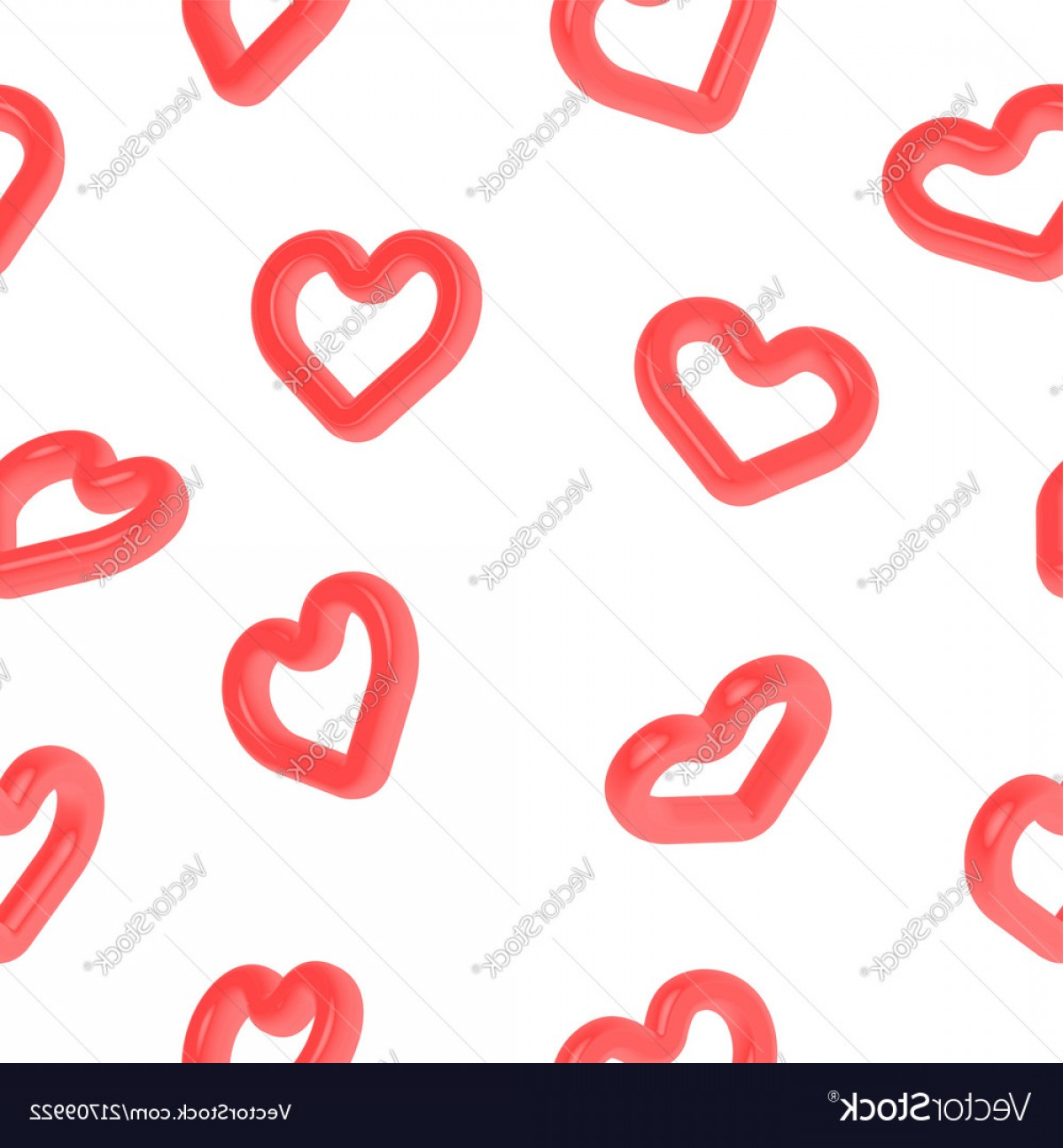Cool Vector Hearts Pattern Symbol Pattern: Heart Shape D Symbol Seamless Pattern For Love Vector