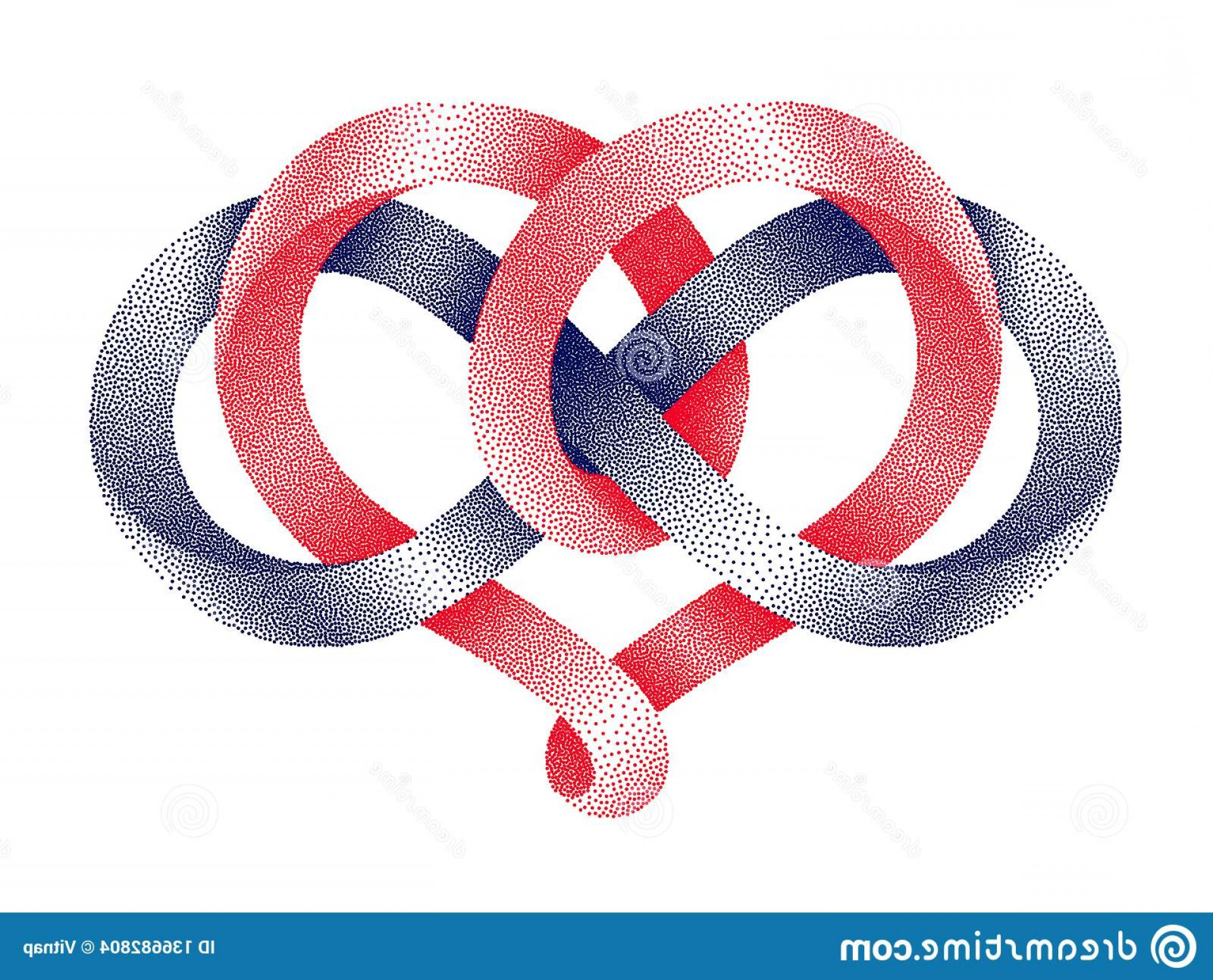 Vector Infinity Symbol Hearts: Heart Shape Infinity Symbol Made Intertwined Stippled Mobius Strips Eternal Love Sign Vector Illustration Isolated Image