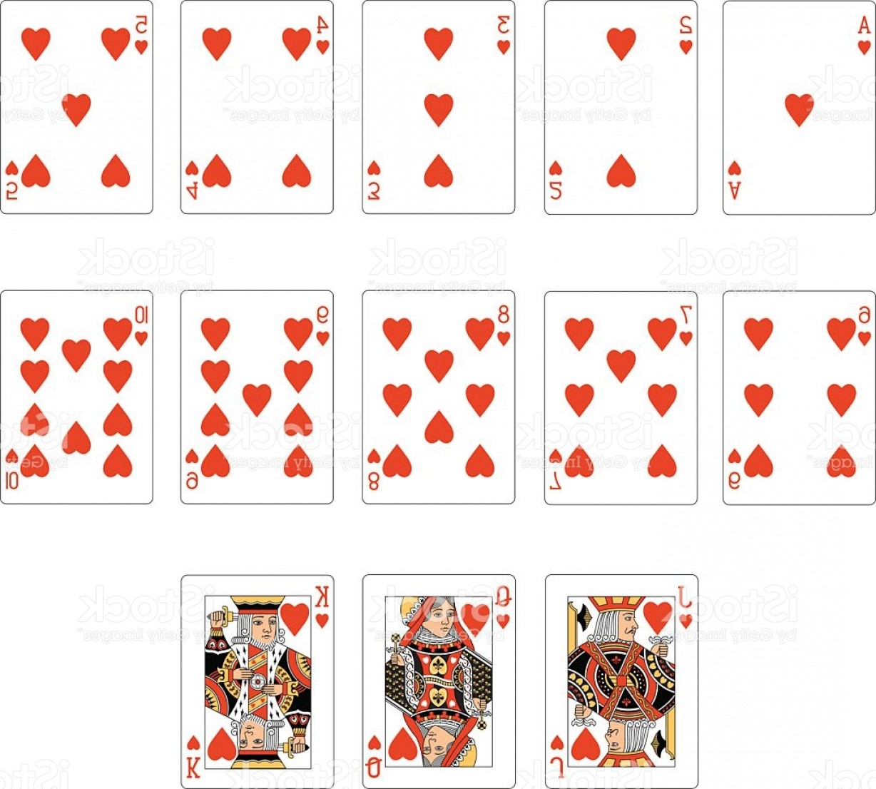Heart Card Vector: Heart Suit Two Playing Cards Gm