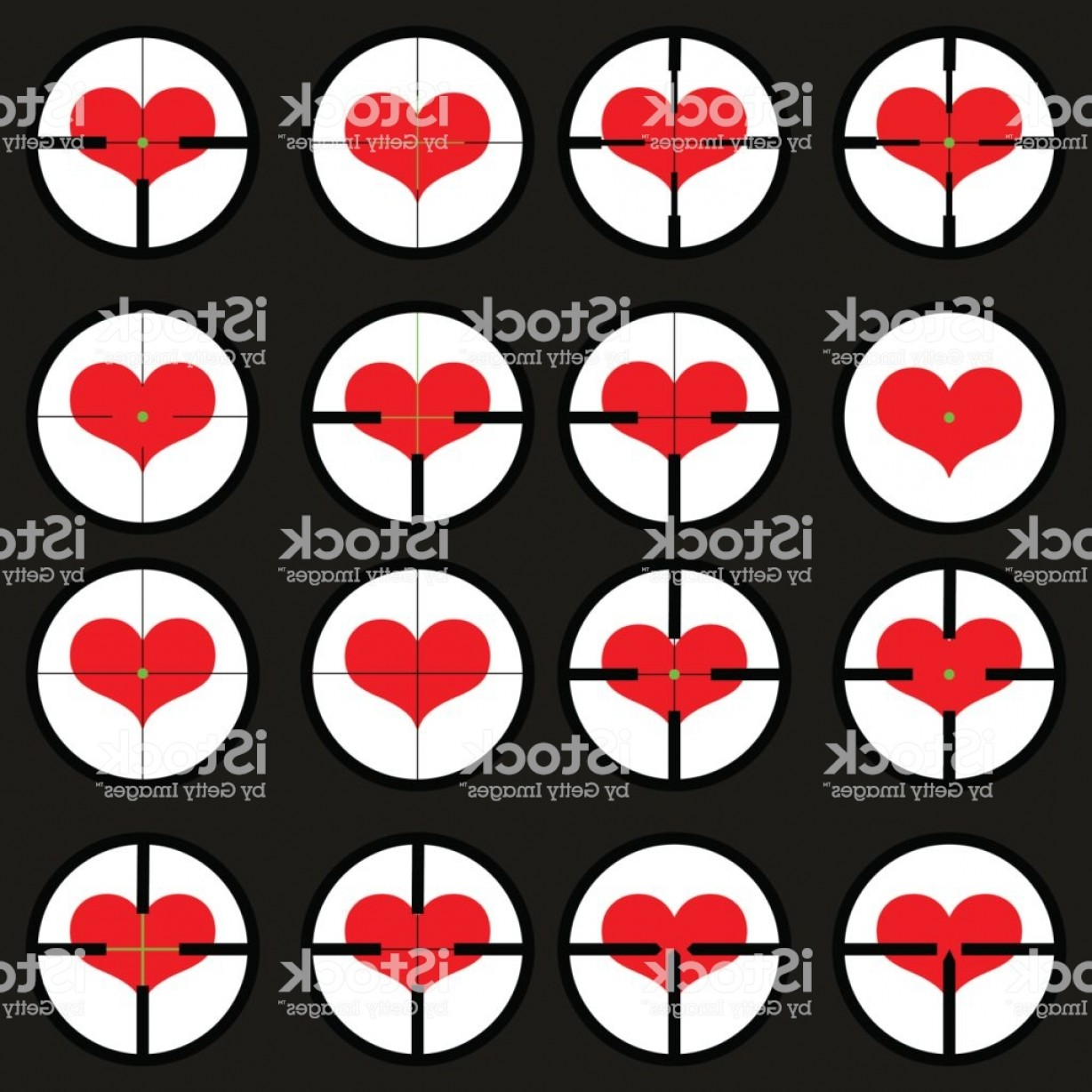 Hunting Heart Vector: Heart Targeted At Heart Reticule Viewfinder Target Graphics Gm