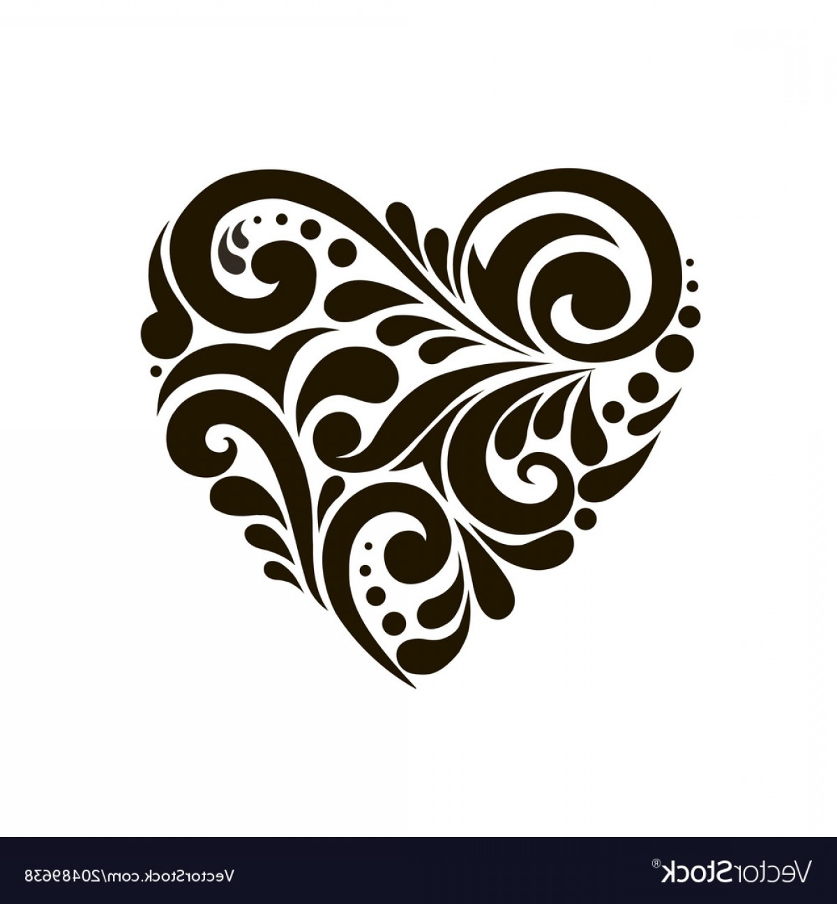 Beautiful Patterns Vector: Heart With Beautiful Patterns Vector